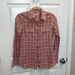 Equipment Plaid Snap Button Down